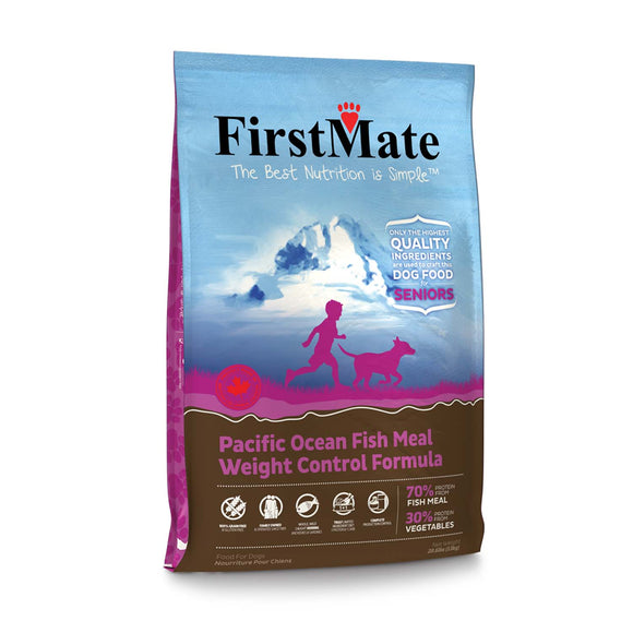 FirstMate Grain Free Pacific Ocean Fish Meal Weight Control Formula Dog Food 28.6 Lbs