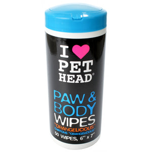 Pet Head Paw & Body Wipes - Orangelicious (TPHW1)
