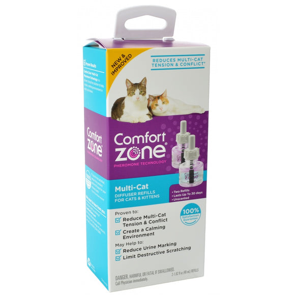 Comfort Zone Multi-Cat Diffuser Refills for Cats & Kittens (100527646)