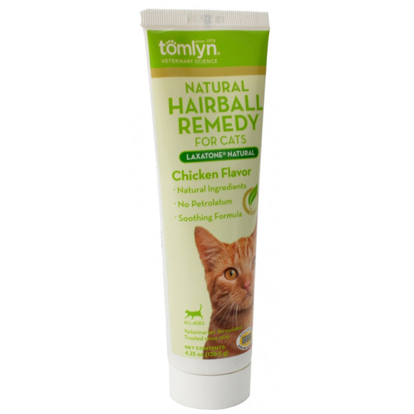Tomlyn Laxatone Natural Hairball Remedy Gel for Cats - Chicken Flavor (416217)