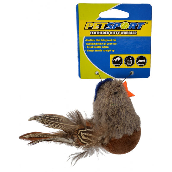 Petsport Feathered Kitty Wobbler Cat Toy - Assorted Styles (70136)