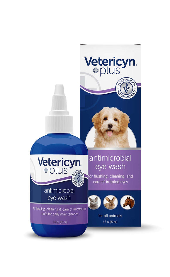 Vetericyn Plus Antimicrobial Eye Wash for All Animals 3 Oz