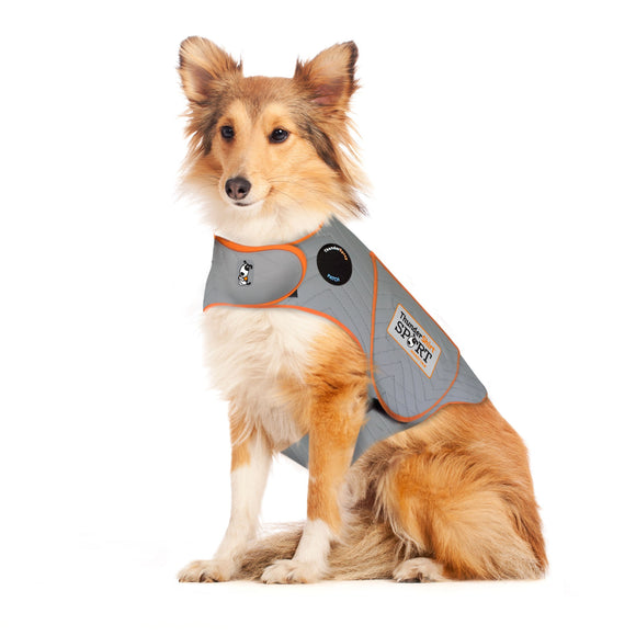 ThunderShirt Sport Anxiety Jacket for Dog Platinum Color Large