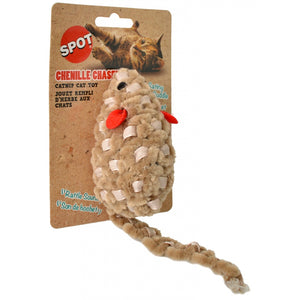 Spot Chenille Chasers Mouse Catnip Toy - Assorted Colors (52079)