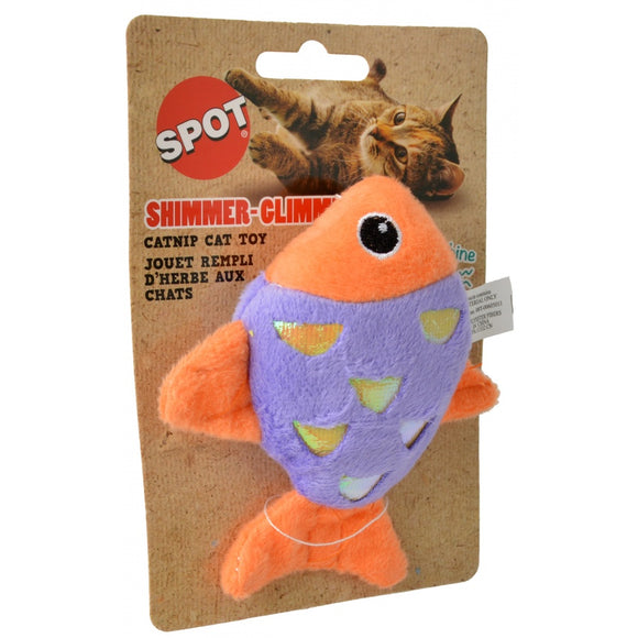 Spot Shimmer Glimmer Fish Catnip Toy - Assorted Colors (52075)