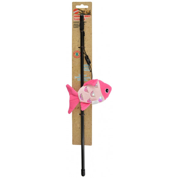 Spot Shimmer Glimmer Teaser Wand Cat Toy - Assorted Styles (52078)