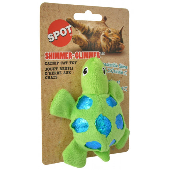 Spot Shimmer Glimmer Turtle Catnip Toy - Assorted Colors (52076)