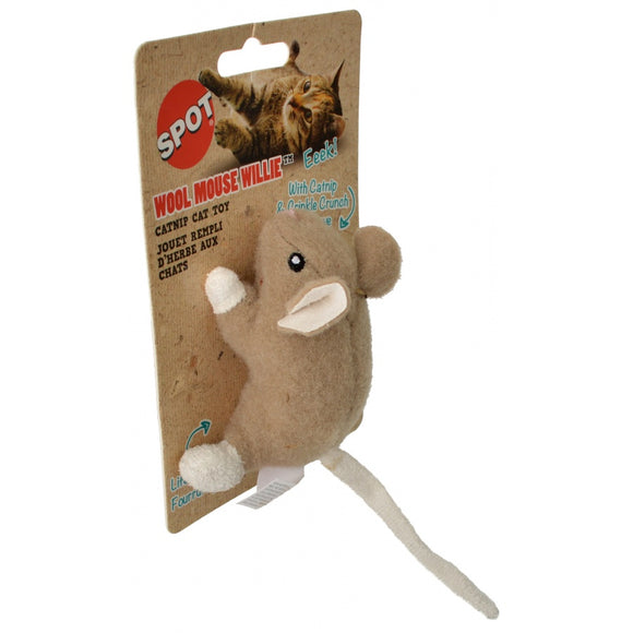 Spot Wool Mouse Willie Catnip Toy - Assorted Colors (52084)