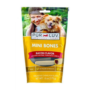 Pur Luv Mini Bones - Bacon Flavor (82285)