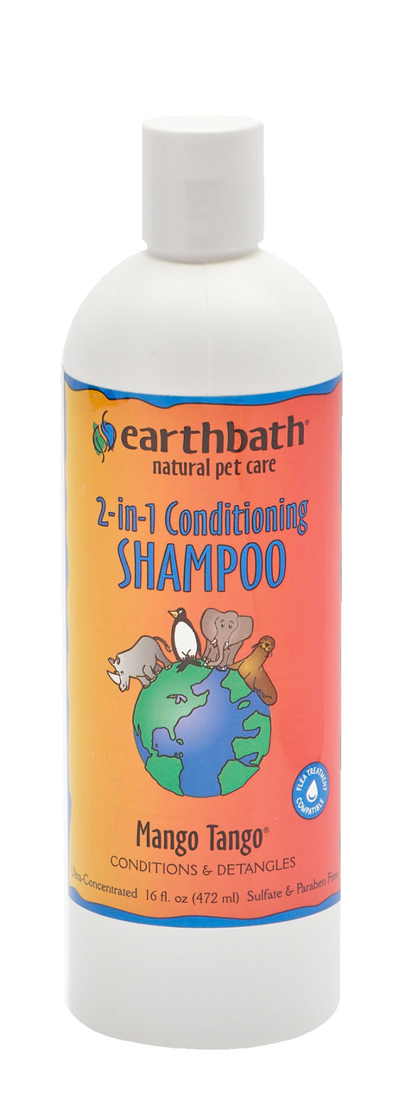 Earthbath Mango Tango 2-in-1 Conditioning Shampoo for Cat & Dog 16 Oz