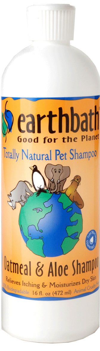 Earthbath Oatmeal & Aloe Shampoo for Cat & Dog 16 Oz
