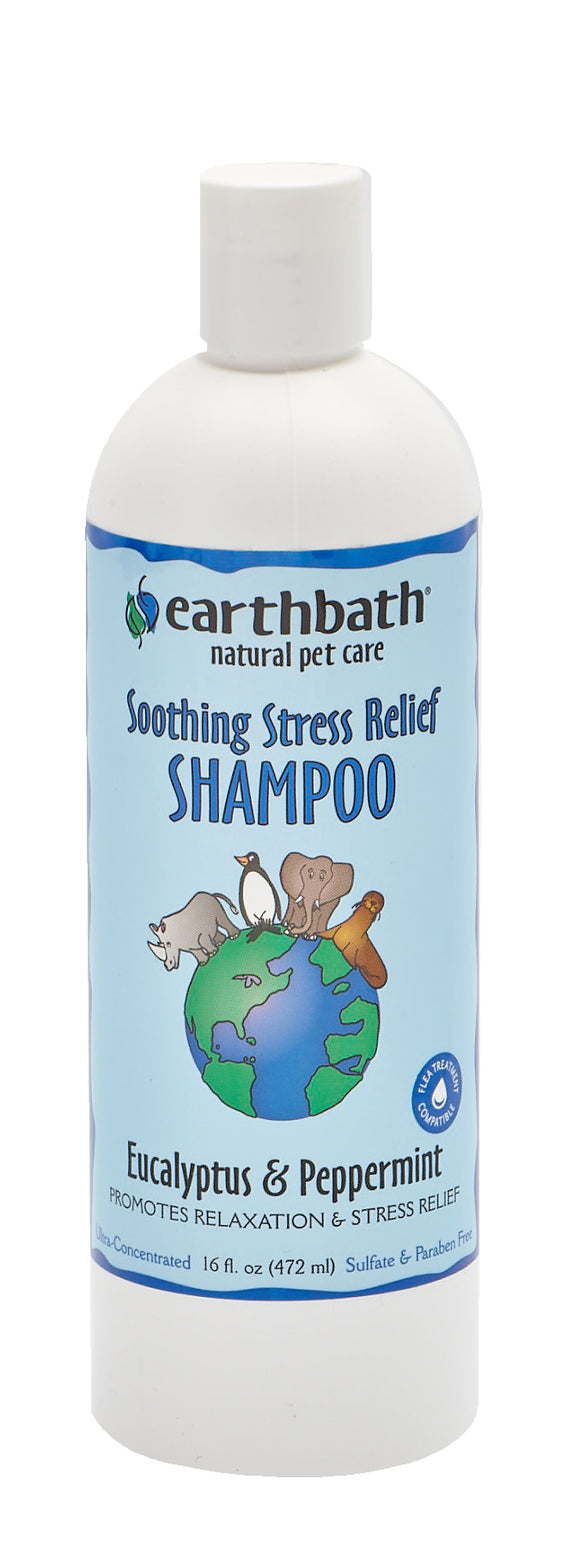Earthbath Eucalyptus & Peppermint Soothing Stress Relief Shampoo for Cat & Dog 16 Oz