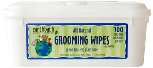 Earthbath Green Tea & Awapuhi Grooming Wipes for Cat & Dog 100 Count