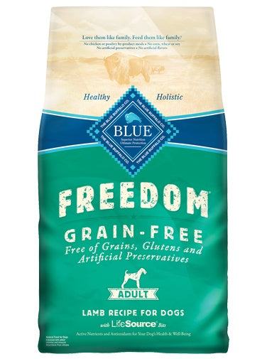 Blue Buffalo Freedom Grain Free Lamb Recipe Adult Dog 11 Lbs
