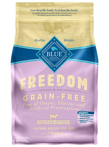 Blue Freedom Grain Free Indoor Chicken Recipe Kitten Cat Food 5 Lbs