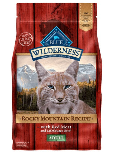 Blue Wilderness Rocky Mountain Recipe Grain Free Red Meat Adult Cat Food 4 Lbs