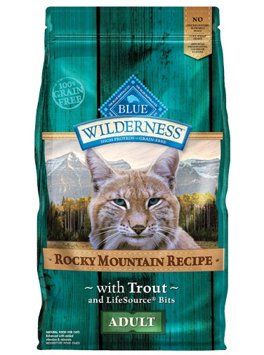 Blue Buffalo Wilderness Rocky Mountain Recipe Grain Free Trout Adult Cat Food 10 Lbs