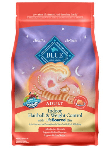 Blue Indoor Hairball & Weight Control Chicken & Brown Rice Recipe Adult Cat Food 7 Lbs