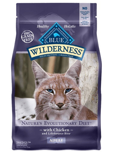 Blue Buffalo Wilderness Nature's Evolutionary Diet Grain Free Chicken Adult Cat Food 2.5 Lbs