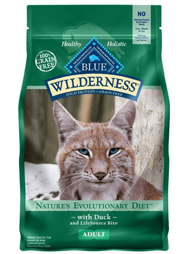 Blue Buffalo Wilderness Nature's Evolutionary Diet with Duck Grain Free Adult Cat Food 2 Lbs