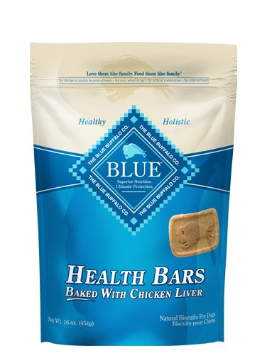 Blue Health Bars Baked with Chicken Liver Natural Dog Biscuits 16 Oz