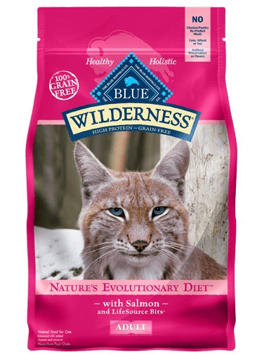 Blue Buffalo Wilderness Nature's Evolutionary Diet with Salmon Grain Free Adult Cat Food 5 Lbs