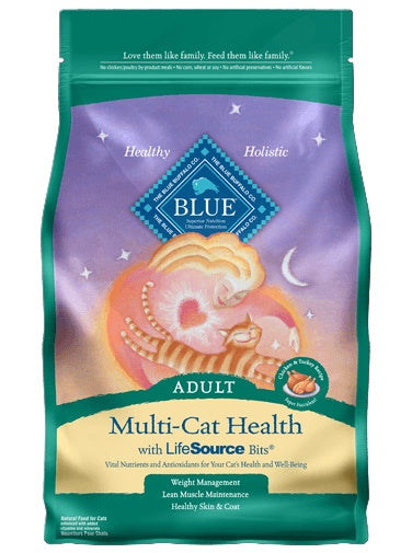 Blue Buffalo Multi-Cat Health Chicken & Turkey Recipe Adult Cat Food 7 Lbs