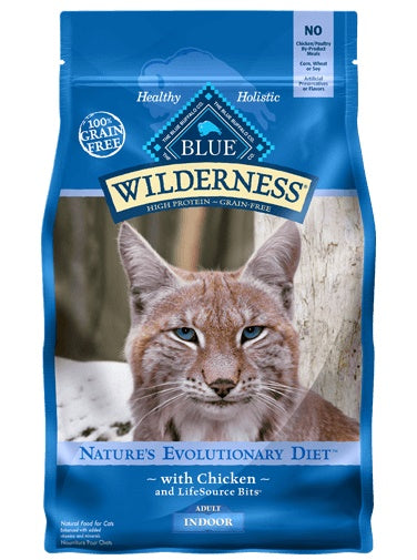 Blue Buffalo Wilderness Nature's Evolutionary Diet Indoor Grain Free Chicken Adult Cat Food 2 Lbs