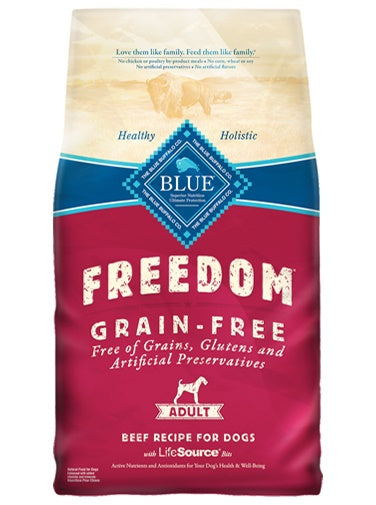 Blue Buffalo Freedom Grain Free Beef Recipe Adult Dog Food 24 Lbs