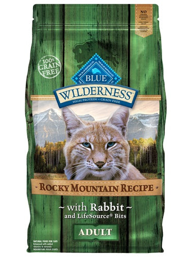 Blue Buffalo Wilderness Rocky Mountain Recipe Grain Free Rabbit Adult Cat Food 4 Lbs