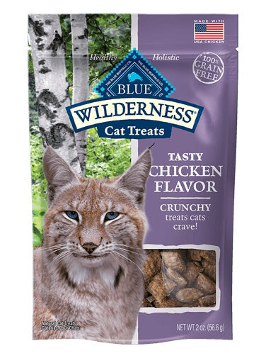 Blue Wilderness Chicken Flavor Grain Free Crunchy Cat Treats 2 Oz