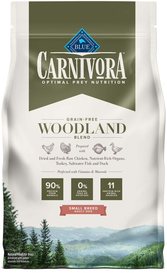 Blue Buffalo Carnivora Grain Free Woodland Blend Small Breed Adult Dog Food 4 Lbs