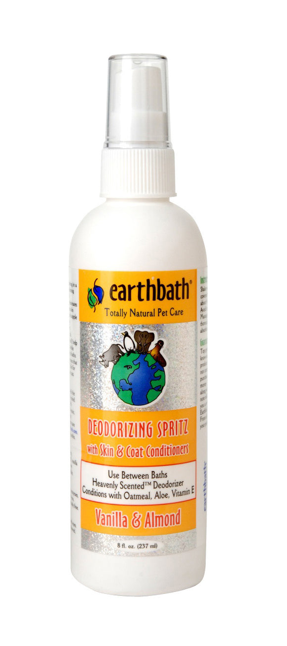 Earthbath Vanilla & Almond 3-in-1 Deodorizing Spritz for Dog 8 Oz