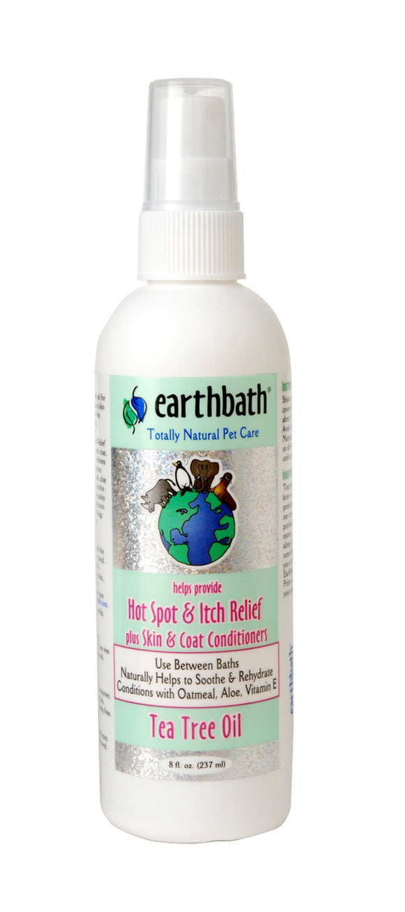 Earthbath Tea Tree Oil & Aloe Vera Hot Spot Relief Spritz for Dog 8 Oz