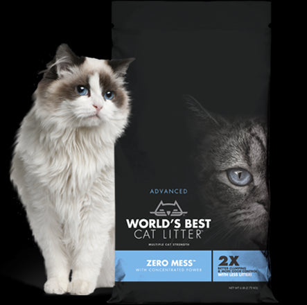 World's Best Cat Litter Advanced Zero Mess Cat Litter 6 Lbs