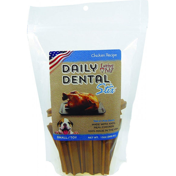 Loving Pets Chicken Recipe Daily Dental Stix Dog Treats (5050)