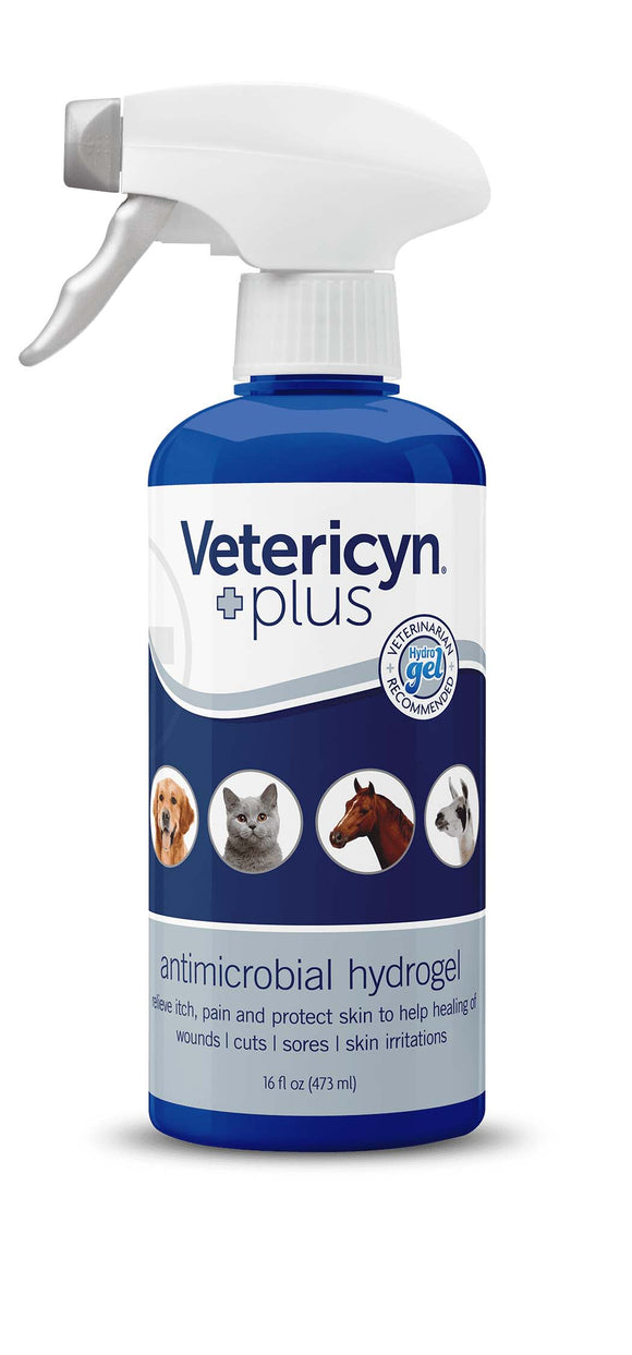 Vetericyn Plus Antimicrobial Hydrogel for All Animals 16 Oz