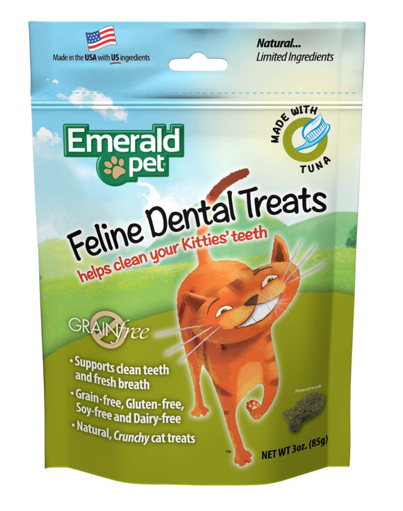Emerald Pet Grain Free Tuna Feline Dental Treats 3 Oz