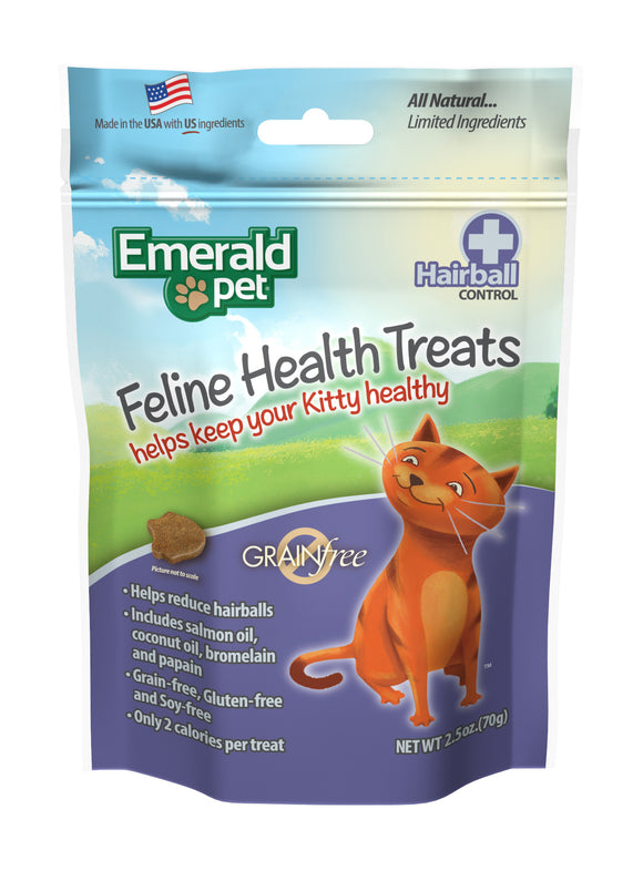 Emerald Pet Hairball Control Feline Health Treats 2.5 Oz