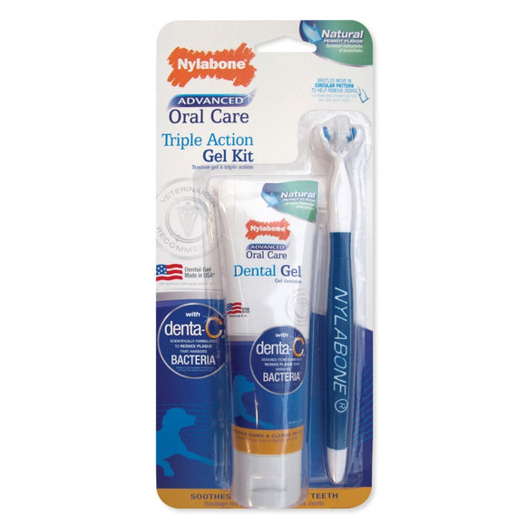 Nylabone Advanced Oral Care Triple Action Gel Kit (NPD304P)