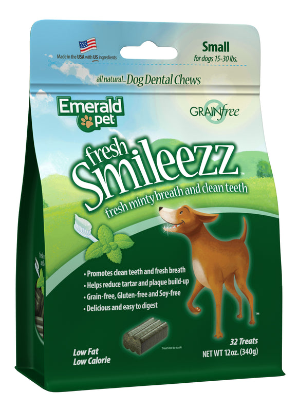 Emerald Pet Fresh Smileezz Grain Free Small Chews Dog Treats 12 Oz