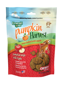 Emerald Pet Harvest Pumpkin Recipe with Apple Dog Treats 6 Oz