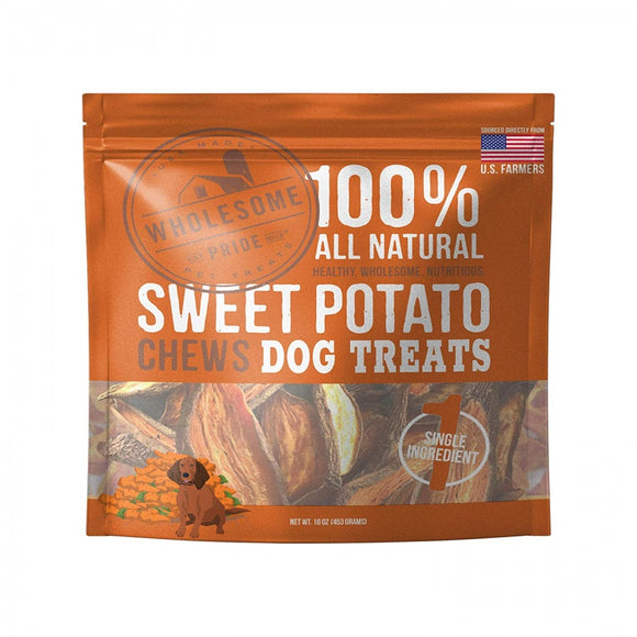 Wholesome Pride Sweet Potato Chews Dog Treats (68277)