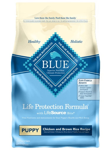 Blue Buffalo Life Protection Formula Chicken & Brown Rice Recipe Puppy Dog Food 15 Lbs
