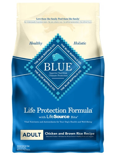 Blue Buffalo Life Protection Formula Chicken & Brown Rice Recipe Adult Dog Food 15 Lbs