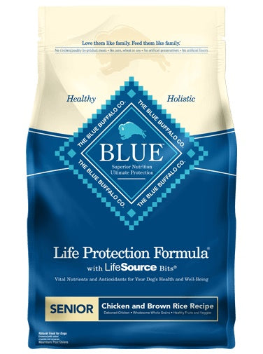 Blue Buffalo Life Protection Formula Chicken & Brown Rice Recipe Senior Dog Food 15 Lbs