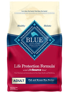 Blue Life Protection Formula Fish & Brown Rice Recipe Adult Dog Food 6 Lbs
