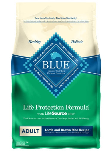 Blue Life Protection Formula Lamb & Brown Rice Recipe Adult Dog Food 6 Lbs