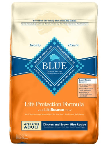 Blue Buffalo Life Protection Formula Chicken & Brown Rice Recipe Large Breed Adult Dog Food 15 Lbs