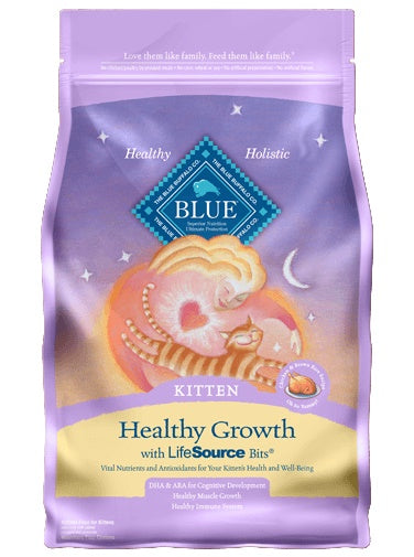 Blue Buffalo Healthy Growth Chicken & Brown Rice Recipe Kitten Cat Food 3 Lbs